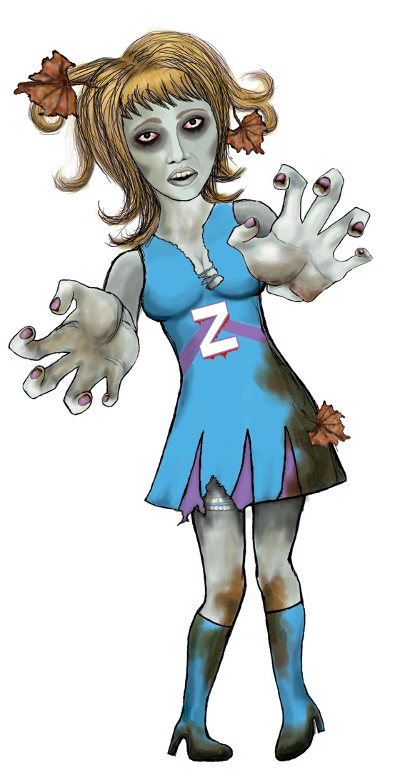 Free Female Zombie Cliparts, Download Free Clip Art, Free.