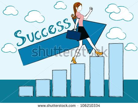 Success Females Clipart.