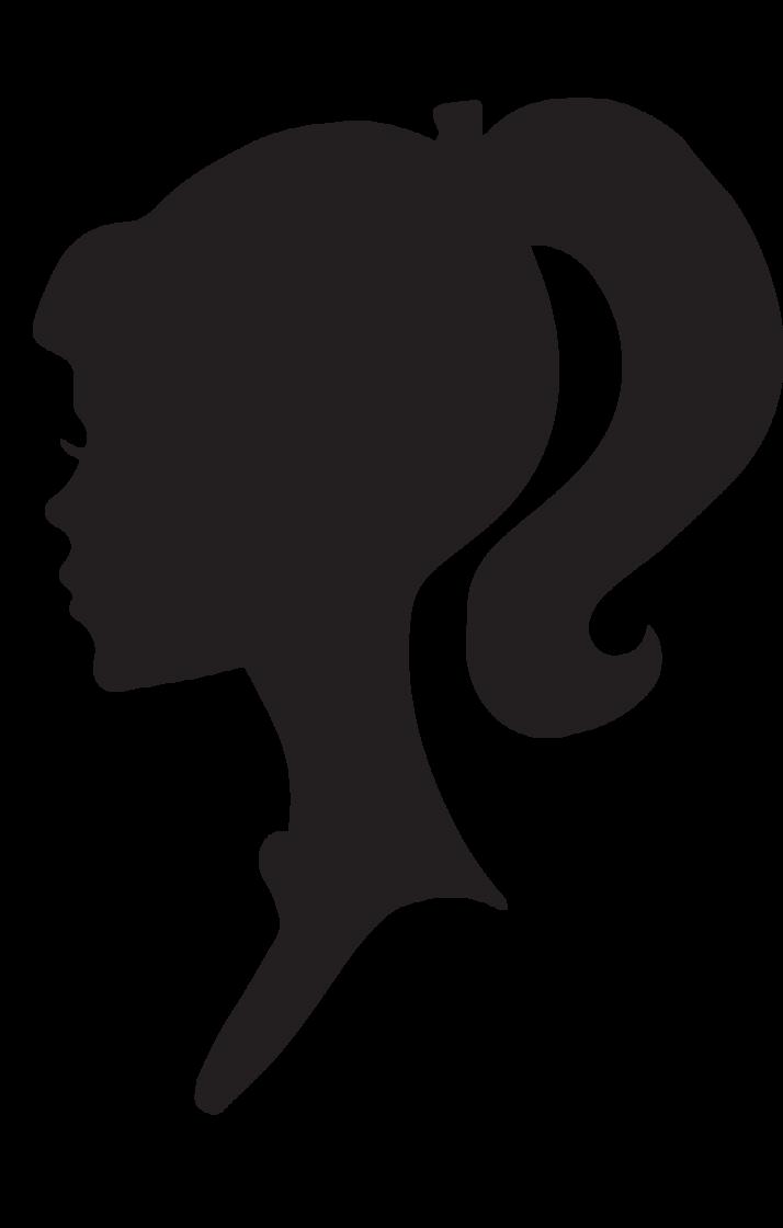 Female Hair Silhouette Clipart.