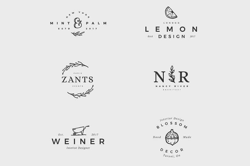 10 Free Collections of Feminine Logo Templates for Designers.