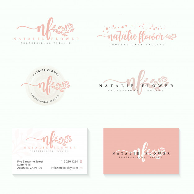 Feminine logo collections template Vector.
