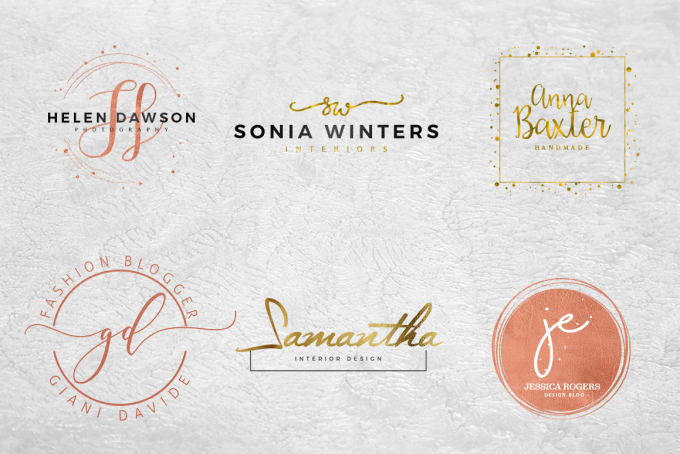 design two amazing feminine logo.