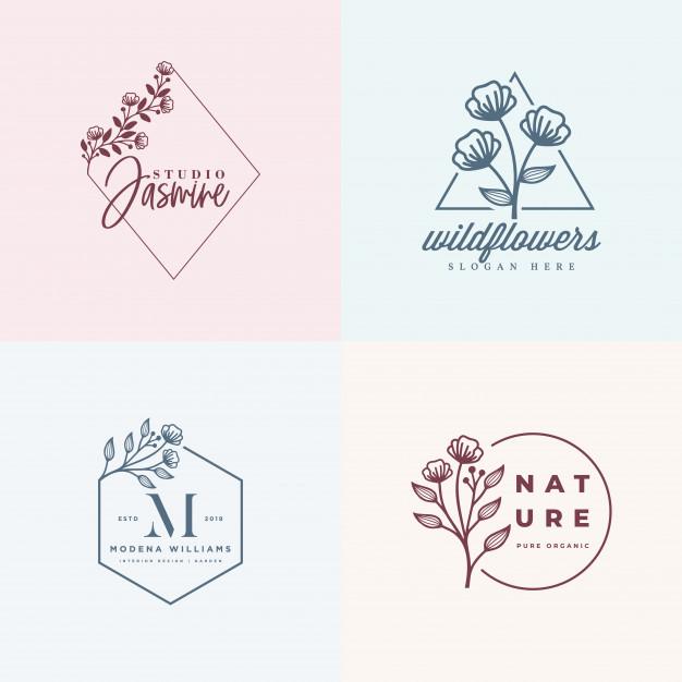 Feminine logo collections template Vector.