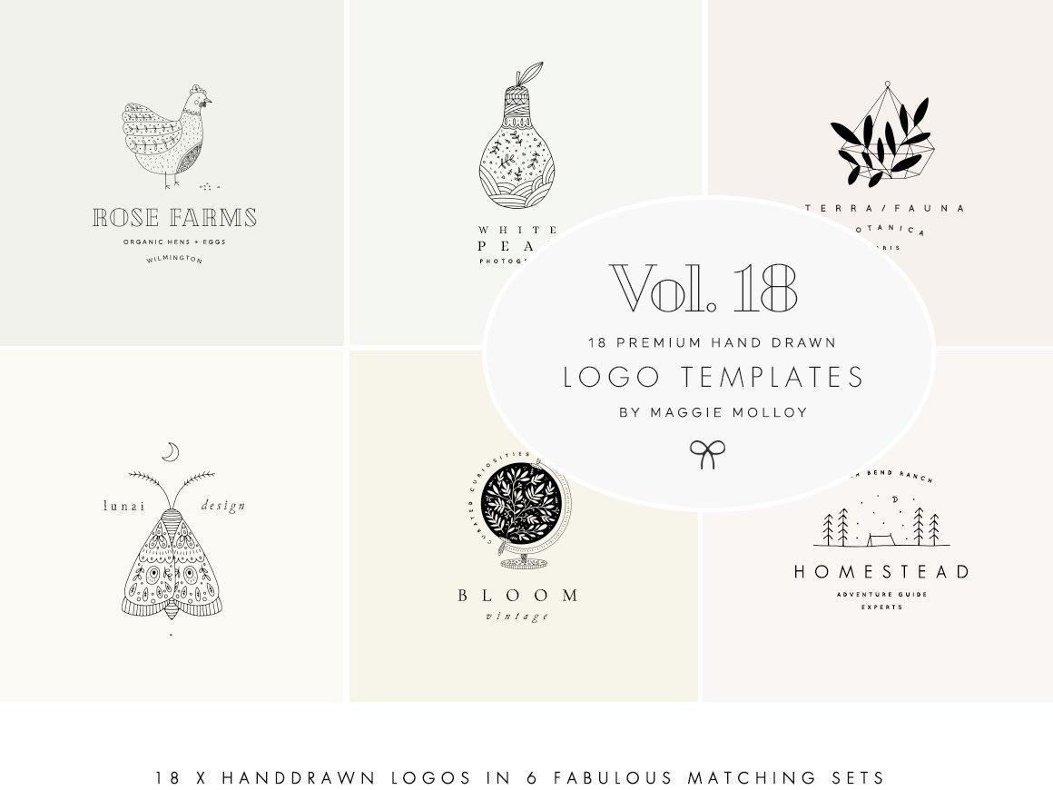 Feminine Premade Logo Bundle Vol. 18 by Logo Templates on.