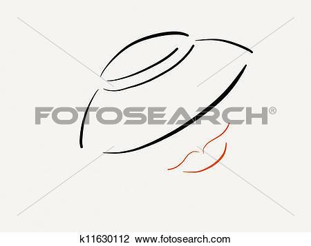 Clip Art of Femme fatale k11630112.