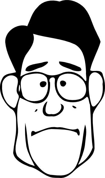 Fen A Bit Surprised Face clip art Free vector in Open office.