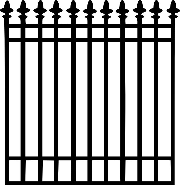 Wrought iron gates clipart - Clipground