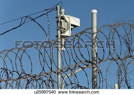 Stock Photography of Low angle view of a telegraphy pole with.