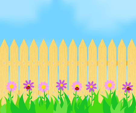 12,841 Garden Fence Cliparts, Stock Vector And Royalty Free Garden.