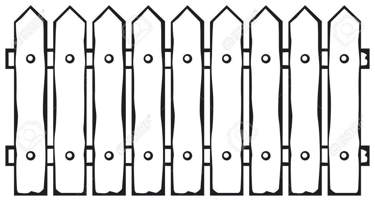 Clipart black and white fence 1 » Clipart Portal.