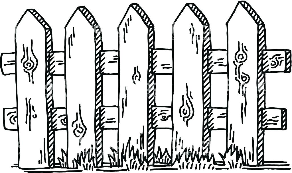 wood fence clip art.