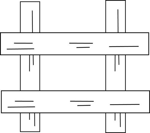 Black and White Fence Clip Art.