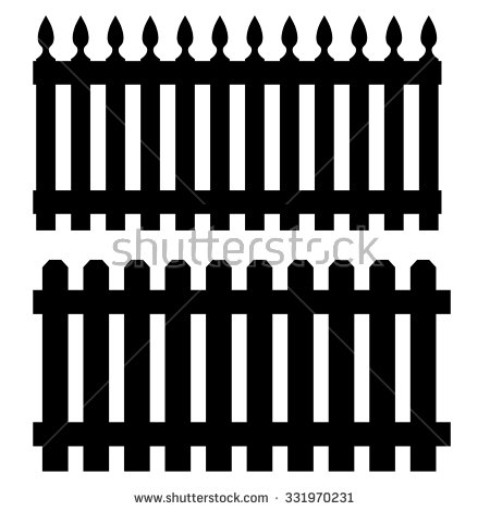 Picket Fence Icon Stock Photos, Royalty.