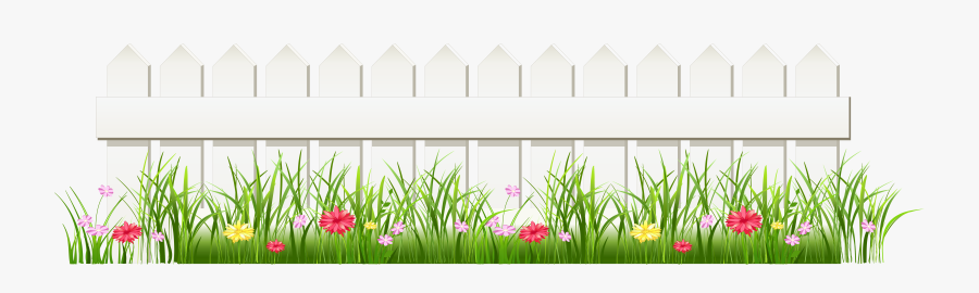 Transparent White Fence With Grass Png Clipart , Free.