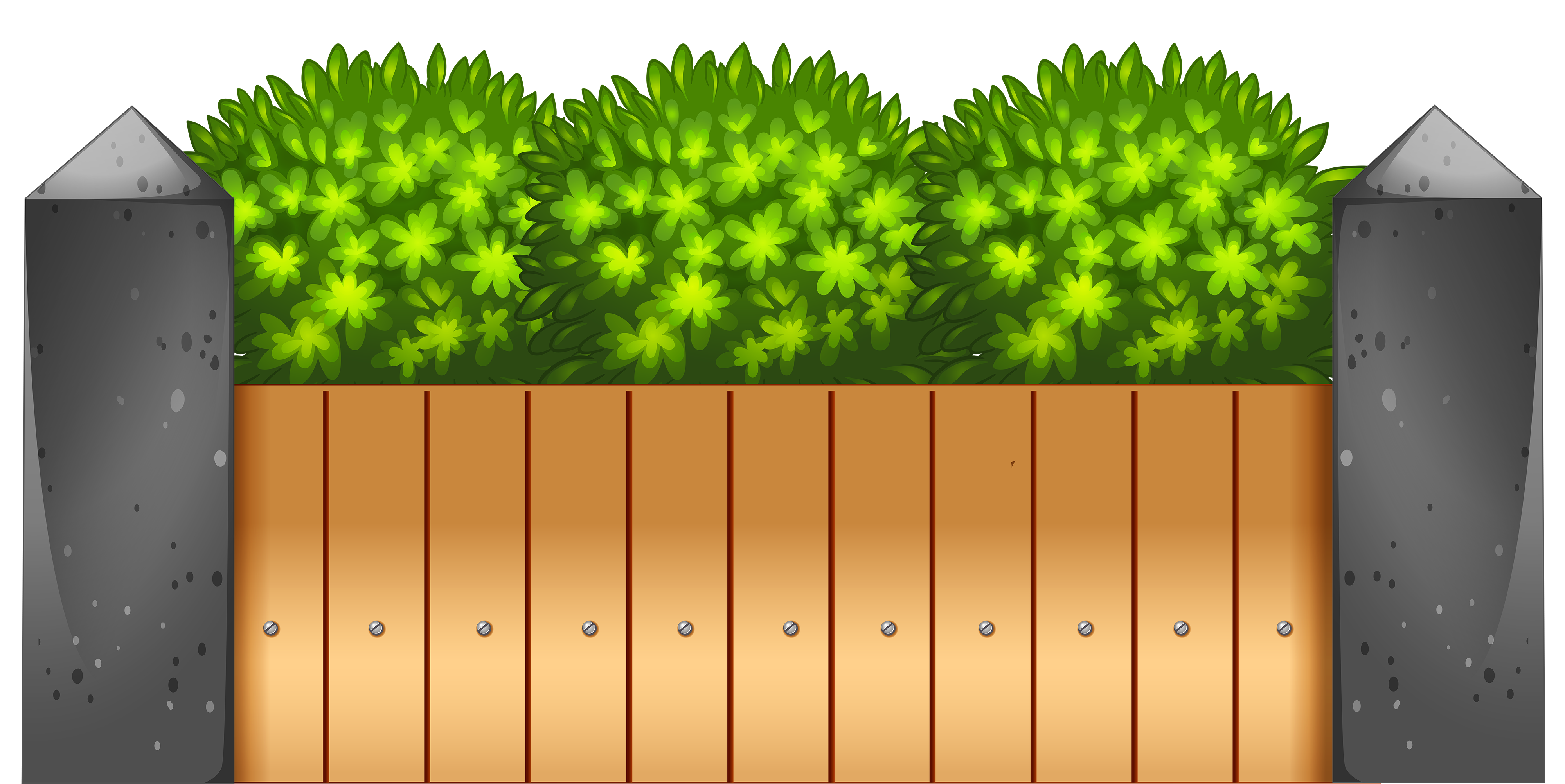 Wooden Fence PNG Clipart.