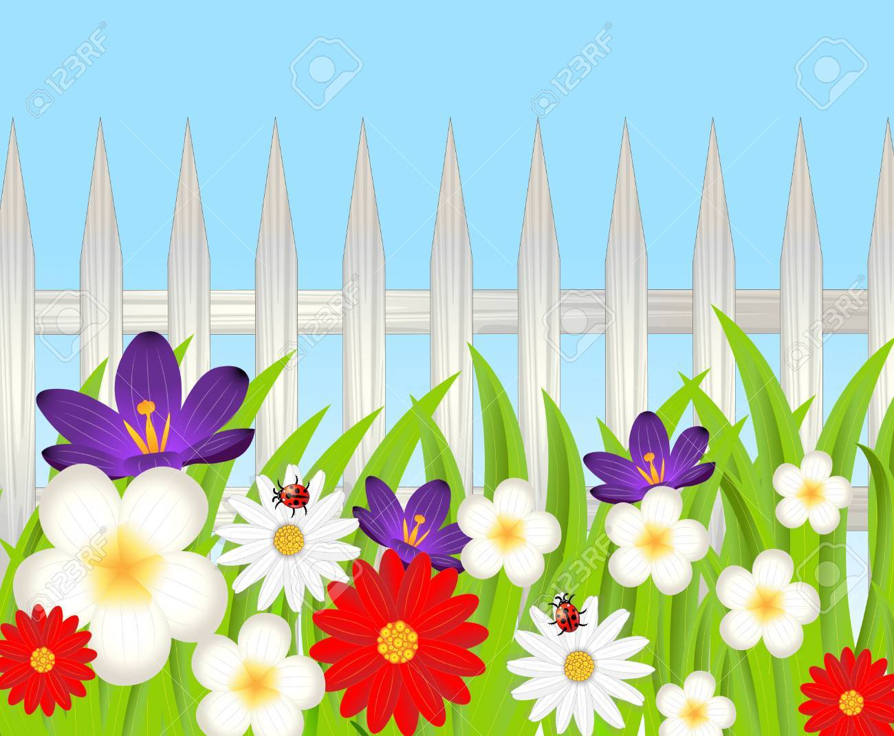 Collection of 14 free Fence clipart floral aztec clipart vintage.