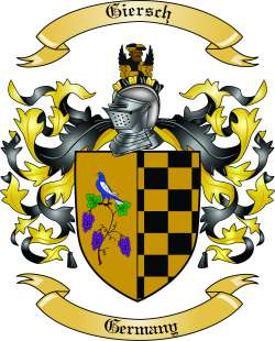 Giersch Family Crest from Germany by The Tree Maker.