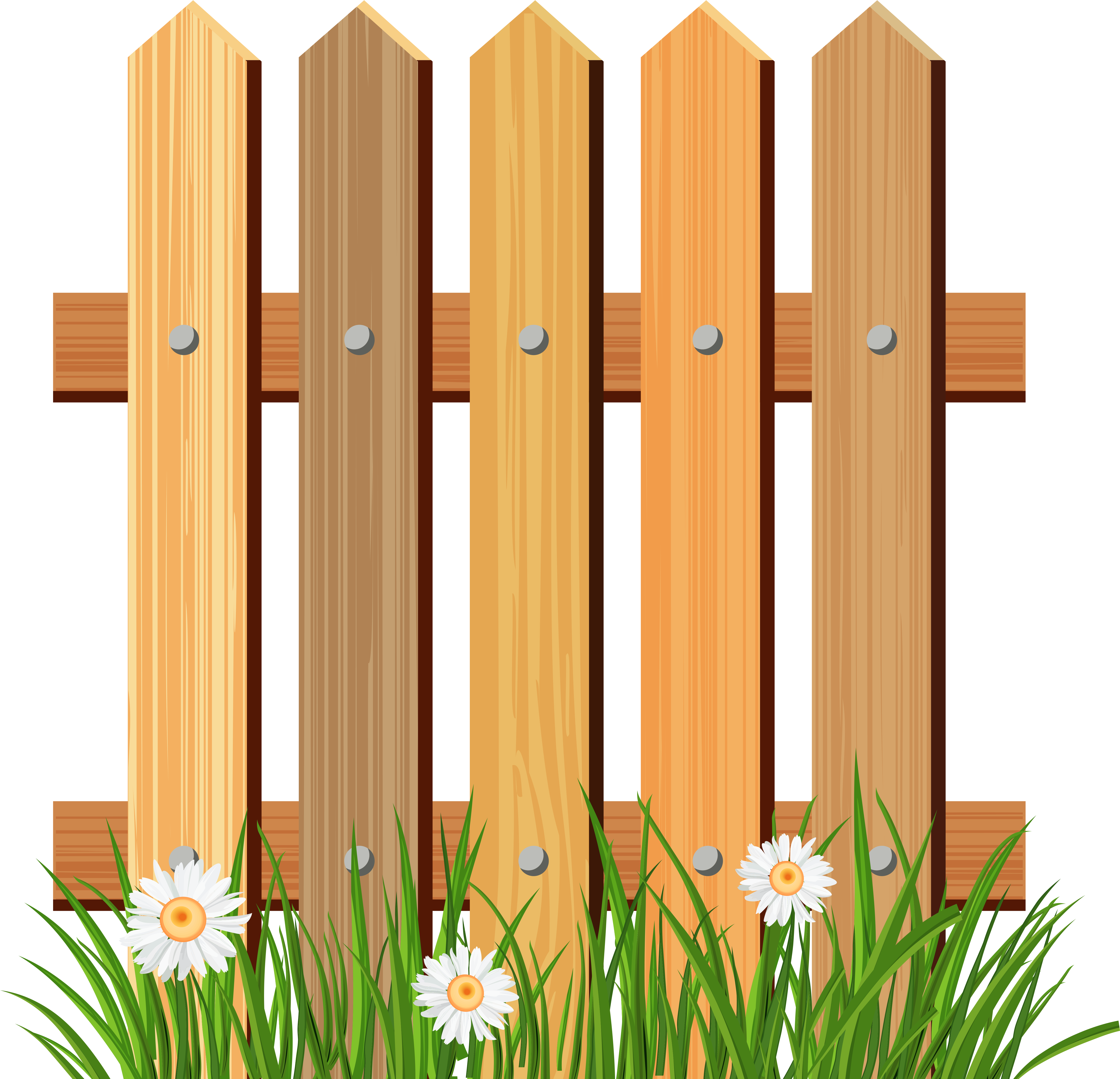 Grass Png Wood Fence Clipart Png.