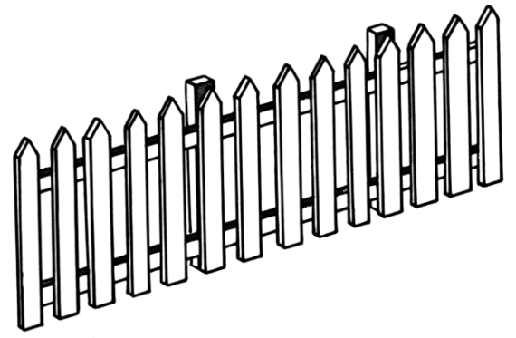 Picket Fence Clipart & Picket Fence Clip Art Images.