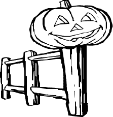 Cute halloween clipart png fence.