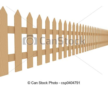 Clipart of Wooden Fence 2.