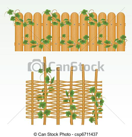 Vectors Illustration of Border and fence..