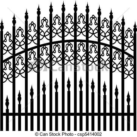 Vector Illustration of Iron fence csp5414002.