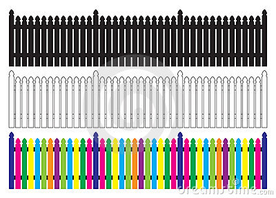 Picket Fence Royalty Free Stock Images.