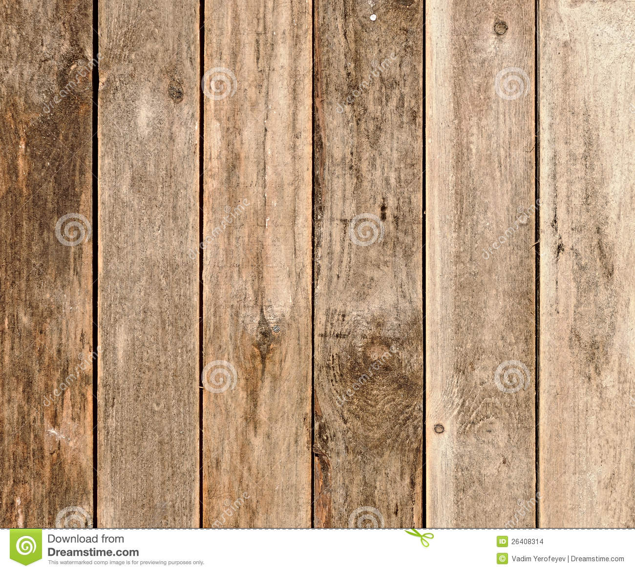 Wooden Fence Panels Stock Images.