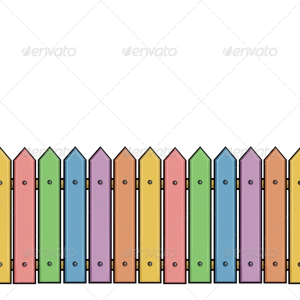 Seamless Colorful Fence by nikiteev.