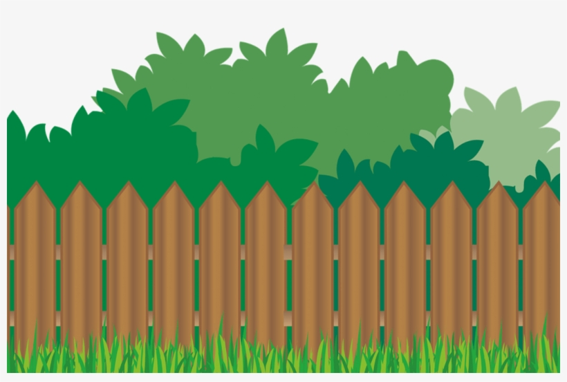 Wood Fence Grass Background.