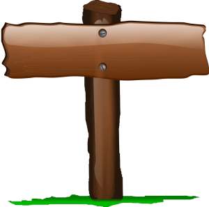 Fence Post Blank Sign Clip Art Download.