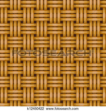 Clipart of seamless woven wicker rail fence background k12450422.