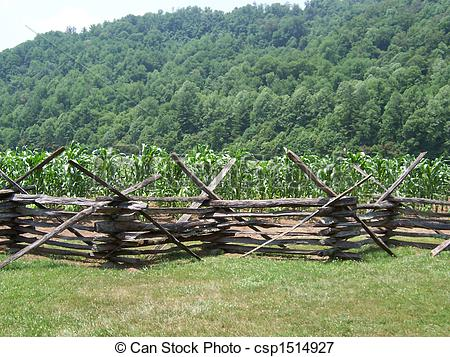 Picture of Split Rail Fence.