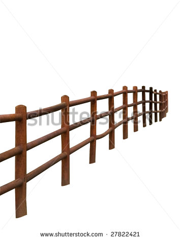 Split Rail Fence Clipart.