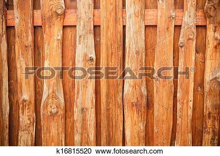 Stock Photography of Wood fence slats k16815520.