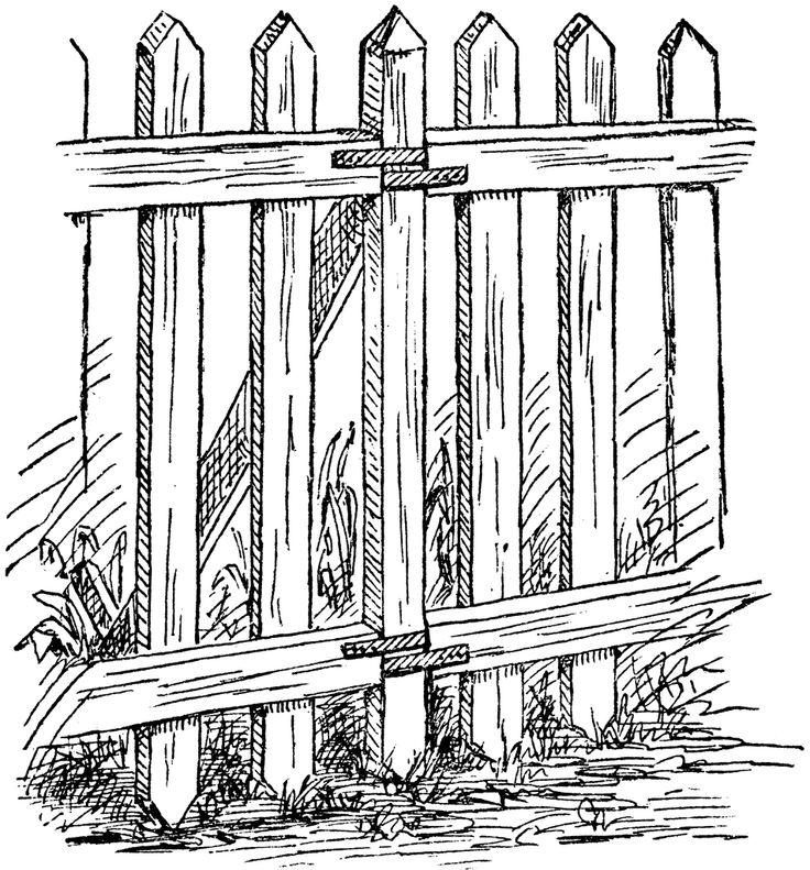 Picket Fence Garden Border.