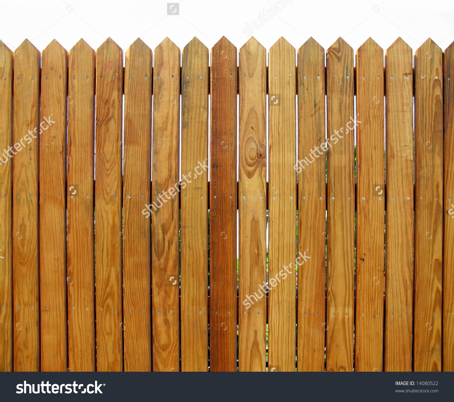 Wooden Fence Slats That Show Natural Stock Photo 14080522.