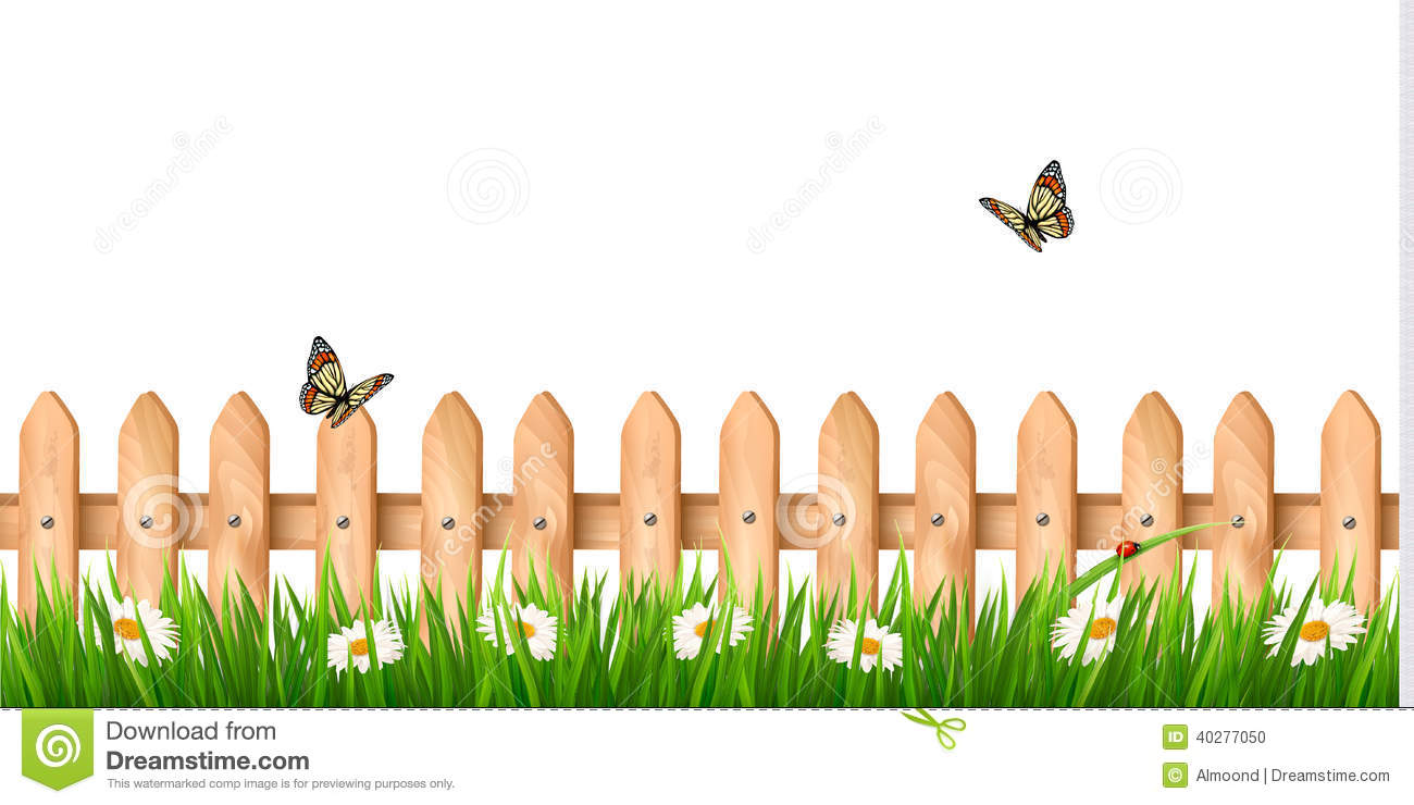 Make meme with Fence With Flowers Clipart.