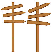 Wooden Post Clip Art.