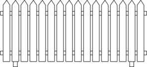 White Picket Fence Clip Art at Clker.com.