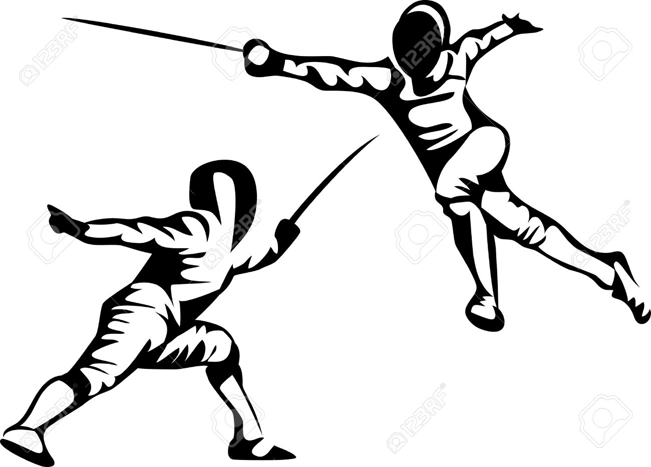 Fencing sword clipart