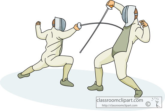 Free sport fencing clipart.