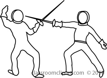 Fencing Clipart : fencing1bw2 : Classroom Clipart.