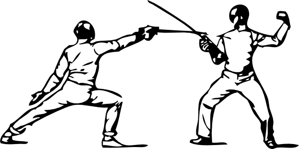 Fencing clip art Free vector in Open office drawing svg ( .svg.