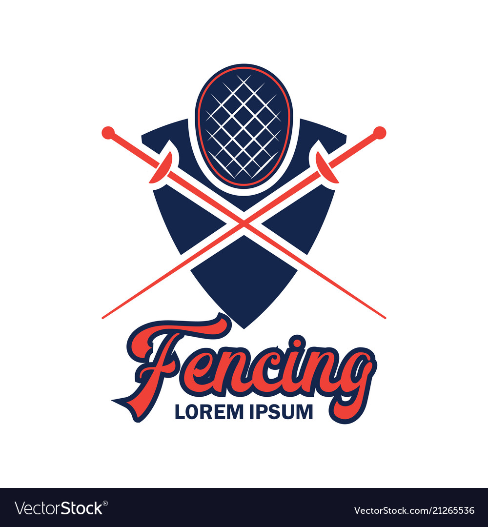 Fencing logo with text space for your slogan.