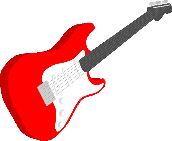 Blue Guitar Clip Art.