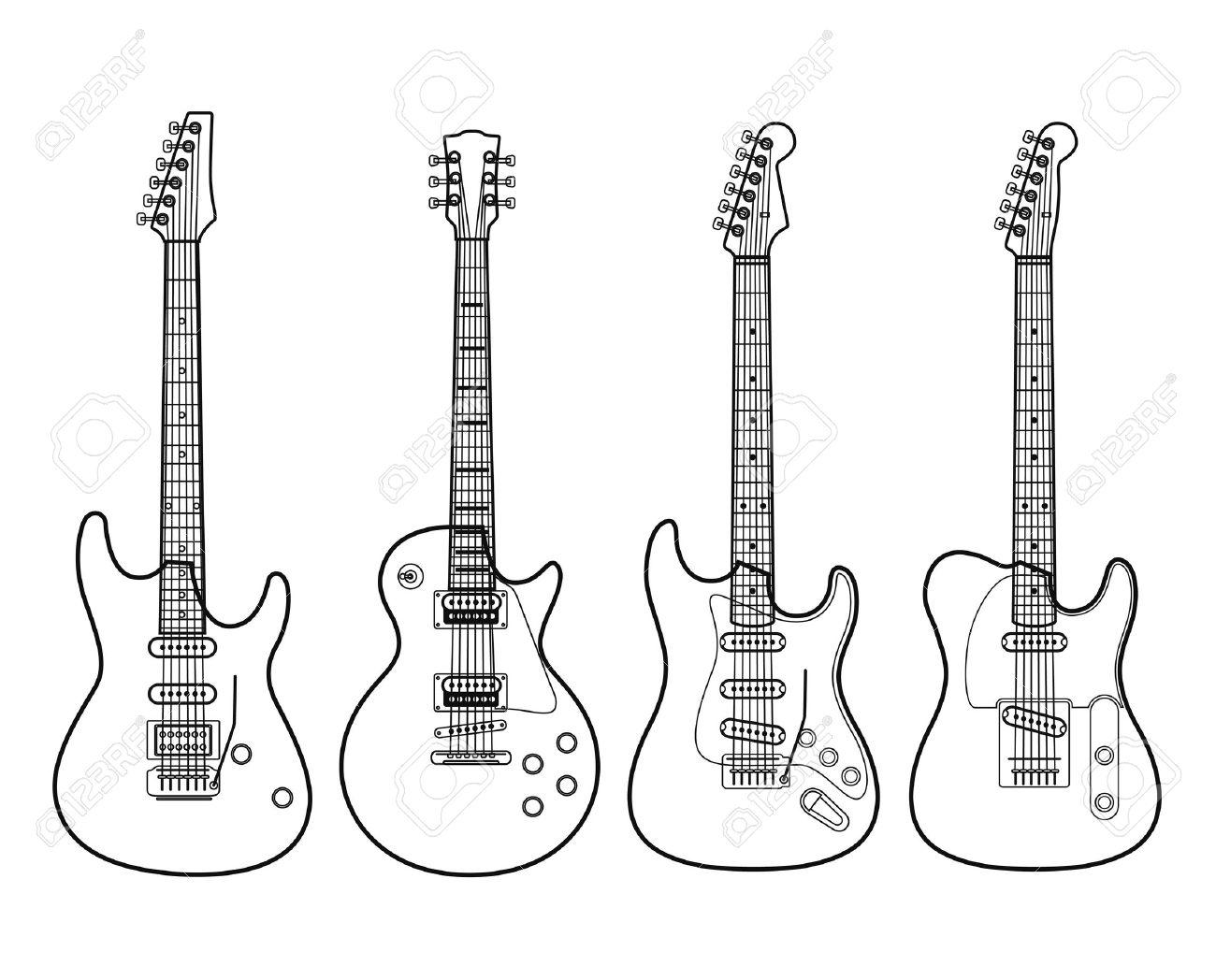 fender guitar outline - photo #20