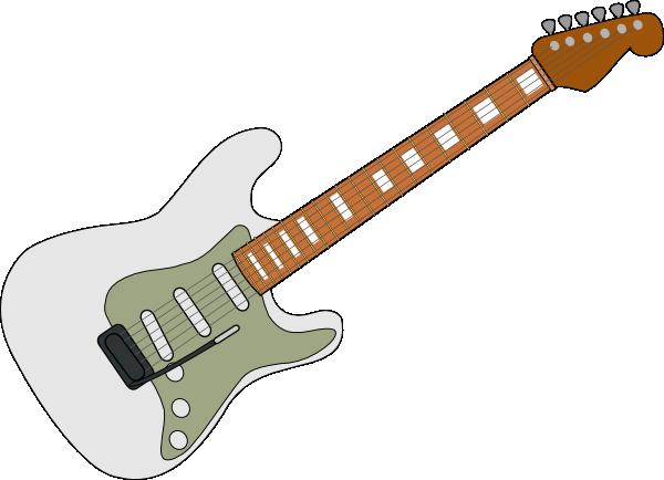 White Fender Strat Clip Art at Clker.com.