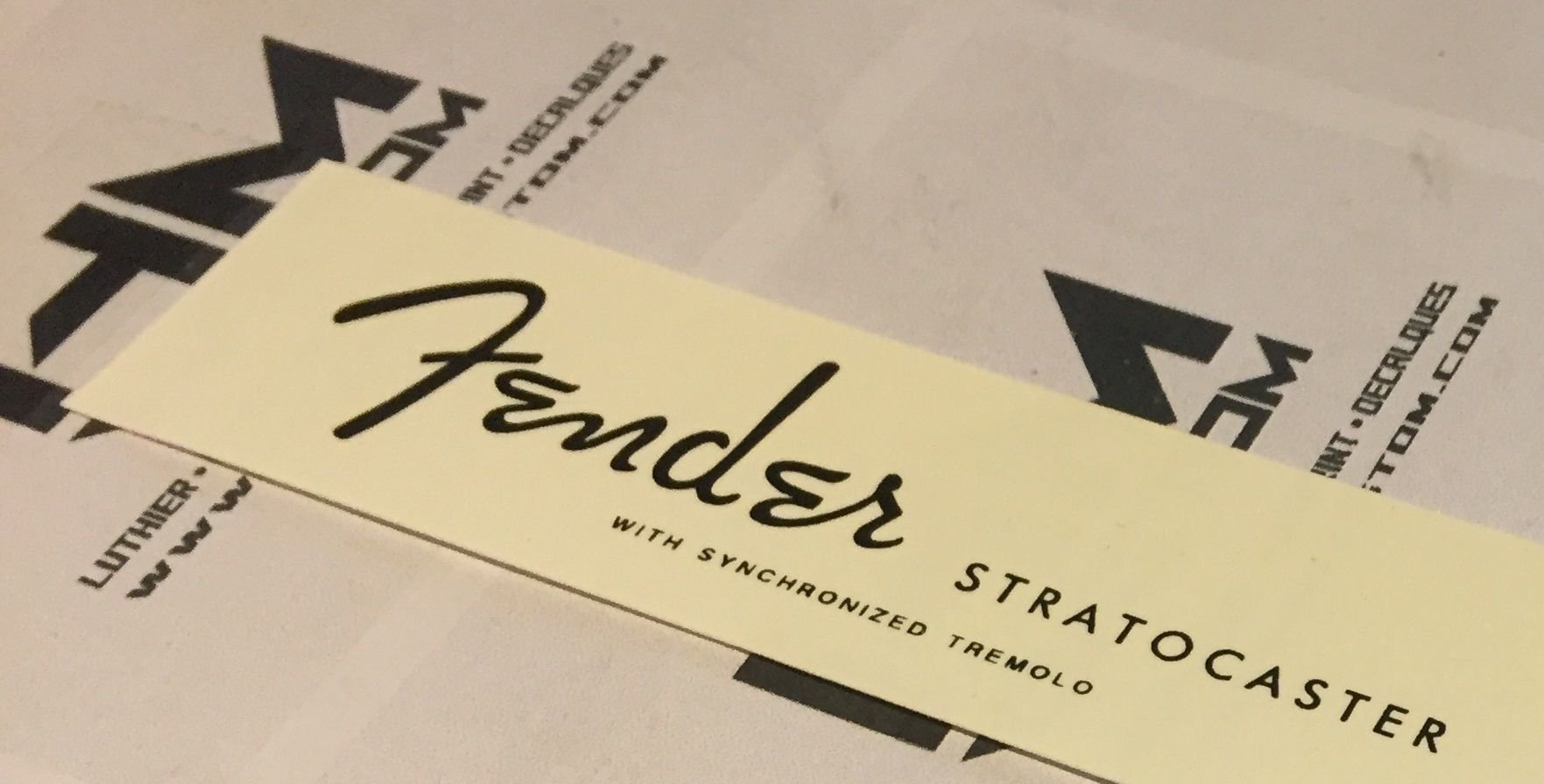 Fender Stratocaster With Synchronized Tremolo Custom WaterSlide Headstock  Logo.
